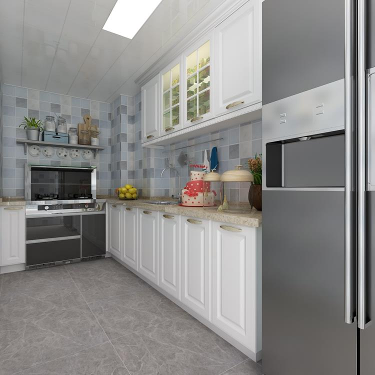 Kitchen With Ceramic Floor Tile