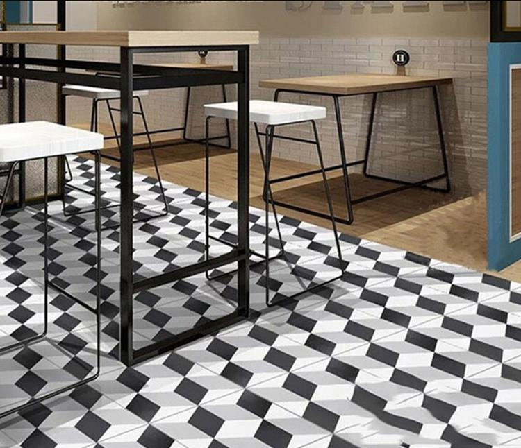 black white ceramic tiles