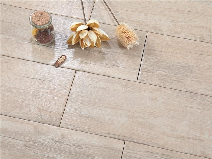 glossy wood effect tiles