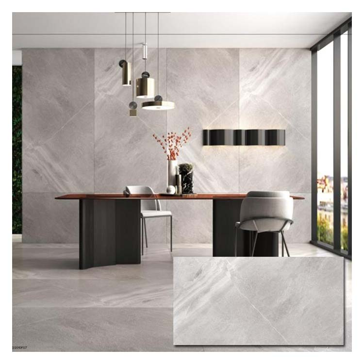 Grey Polished Ceramic Wall Tile