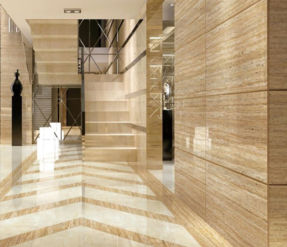 Beige Polished Ceramic Floor Tile 600 x 1200mm HB6389