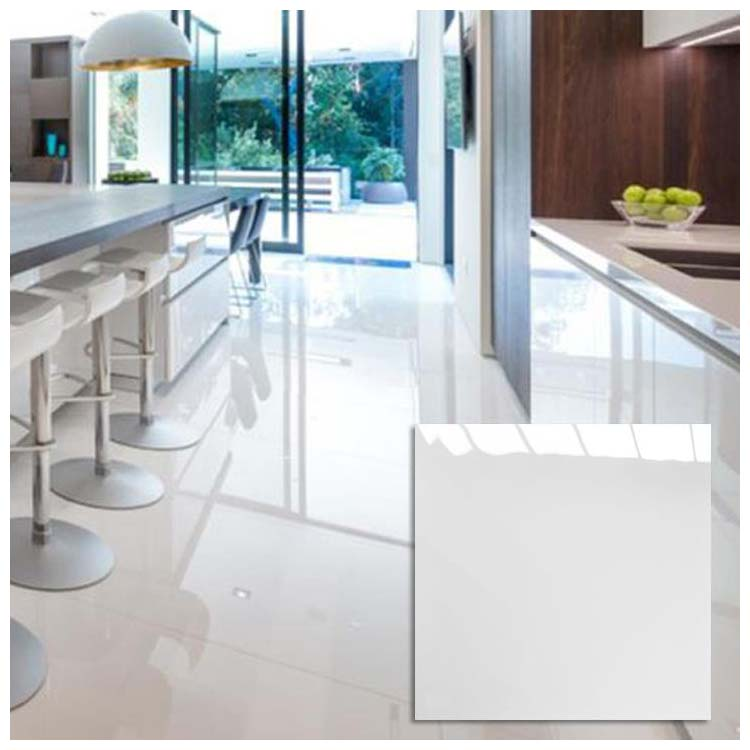 White Polished Ceramic Floor Tiles Size 600 X 600mm Model Hs601gn Hanse Tiles Products
