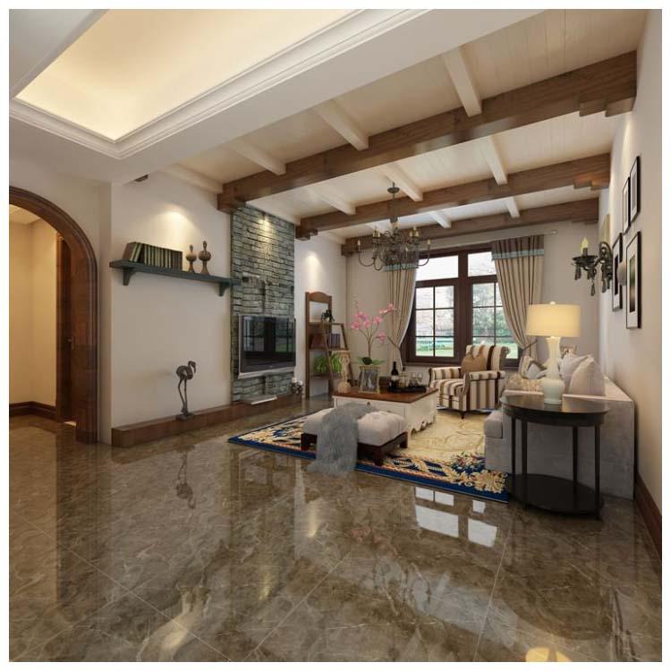 Brown Polished Ceramic Floor Tiles Size