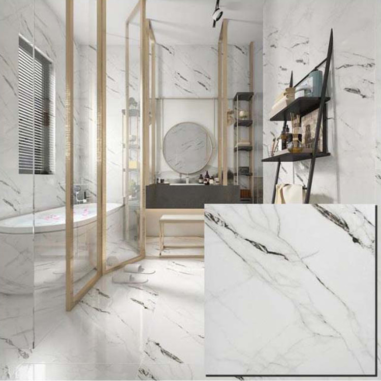 White Polished Ceramic Floor Tile 600 x 600mm HYH6246PA