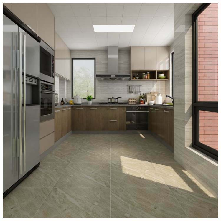 Brown Polished Ceramic Floor Tile 600 x 600mm LC524