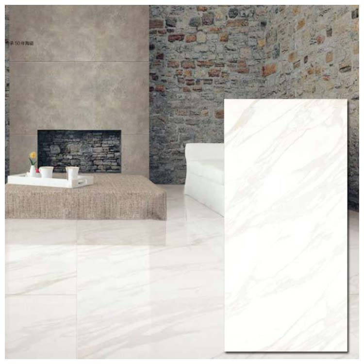 White Polished Ceramic Wall Tile 900 x 1800mm M1821