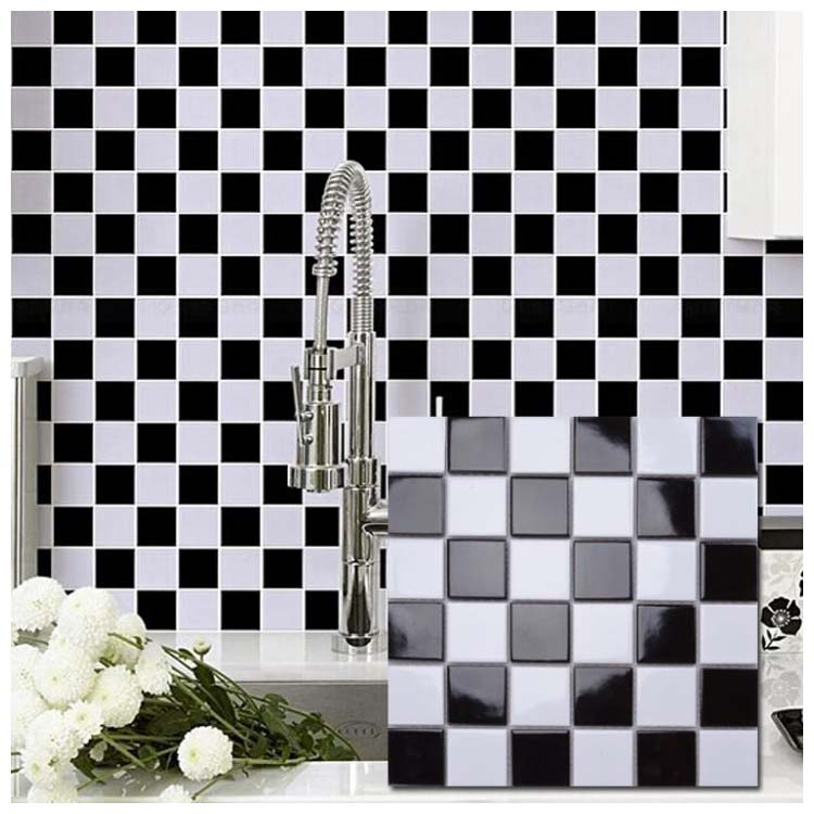 Black Polished Ceramic Tile 300 x 300mm MD053T
