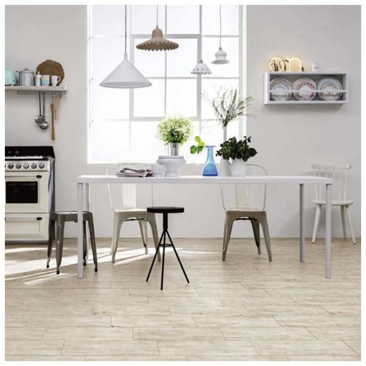 Beige Glazed Porcelain Wood Tile 150 x 600mm N6153061