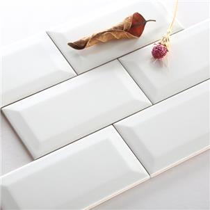 White Glossy Ceramic Tile 75 x 150mm 751500X