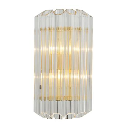 Hanse Clear Glass Cylinder Brass Pendant Light  HS8062B-9L