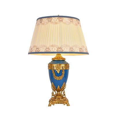 Hanse Royal Blue Brass Table Lamp  HS-8224T-6