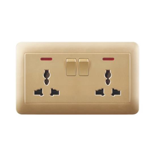 13a 2 gang switch double socket uk  TH23