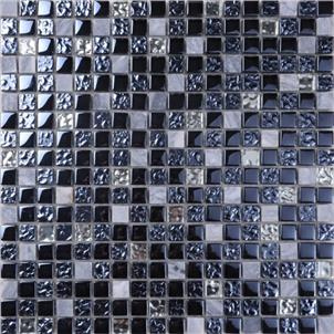 Black Glazed Artificial Stone Tile Customized Size SD020