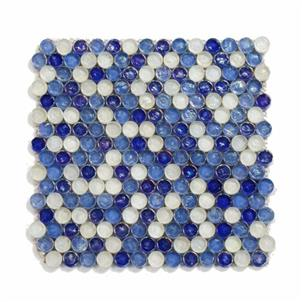 Blue Glazed Glass Mosaic Tile Customized Size HSJ02