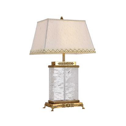 Hanse Clear Crystal Stone Brass Table Lamp  HS-8220T-1A-4