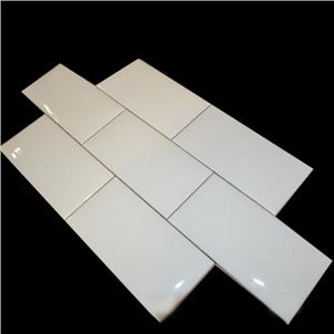 White Glossy Ceramic Tile 75 x 150mm 751500P