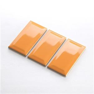 Orange Glossy Ceramic Tile 75 x 150mm 751509BX