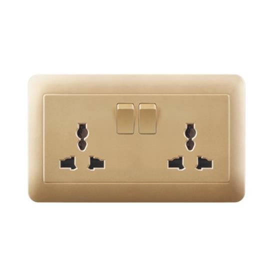 13 amp 2 gang switched outlet double european socket  TH24