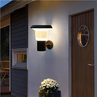Modern style 3000-6500k solar wall pack light for outdoor  HS-ZC-BD4001-3