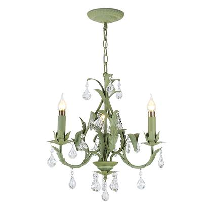 Hanse Avocado Green Iron Chandelier  HS-ART9004