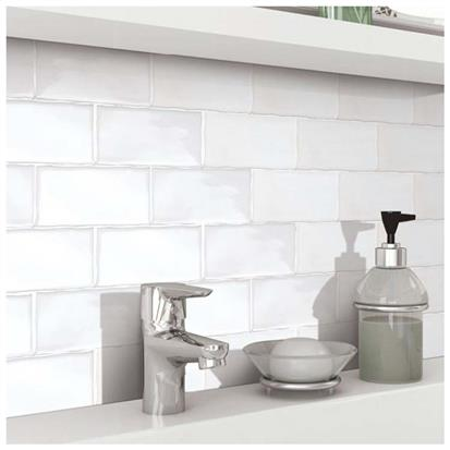 White Polished Ceramic Wall Tile 300 x 600mm 751500L