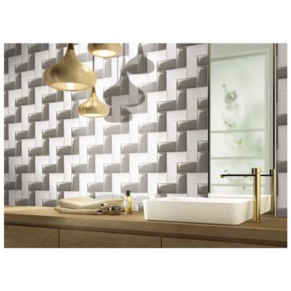 Grey Glazed Ceramic Tile 75 x 150mm 751503P