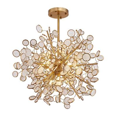 Hanse Crystal Strip Titanium Gold Chandelier  HS8066AC-11L