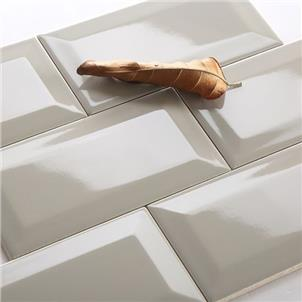 Grey Glossy Ceramic Tile 75 x 150mm 751502BX