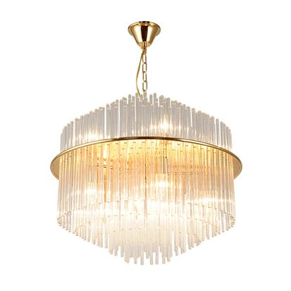 Hanse Clear Crystal Gold Brass Pendant Light  HS091A-650
