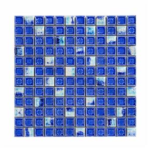 Blue Glazed Ceramic Tile Customized Size HMB-2129