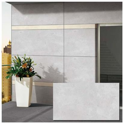 Light Grey Glazed Ceramic Wall Tile 600 x 1200mm BG126C02