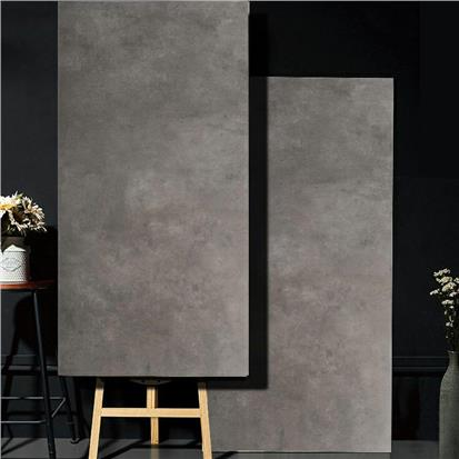 Dark Grey Glazed Porcelain Wall Tile 600 x 1200mm HB612F011