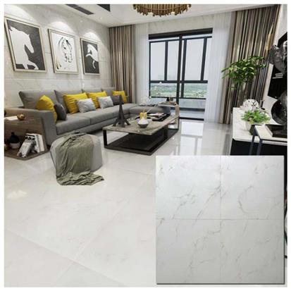 White Polished Ceramic Floor Tile 600 x 600mm HB6248