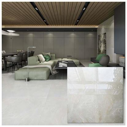 White Polished Ceramic Floor Tile 600 x 600mm HB6251
