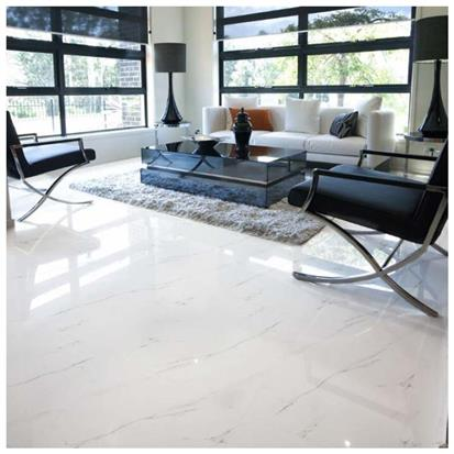 White Polished Ceramic Floor Tile 600 x 600mm HB6314