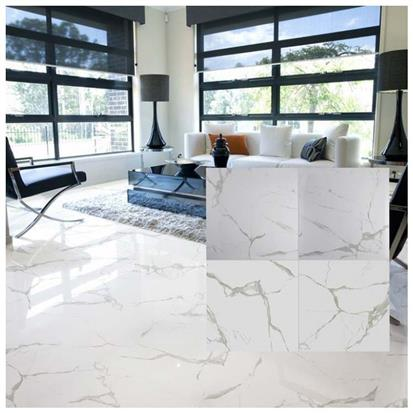 White Polished Ceramic Floor Tile 600 x 600mm HB6452
