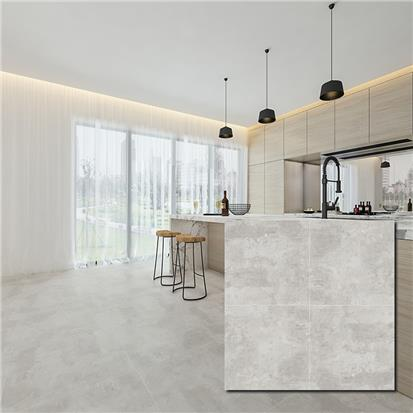 Grey Glazed Porcelain Floor Tile 600 x 600mm HBF004
