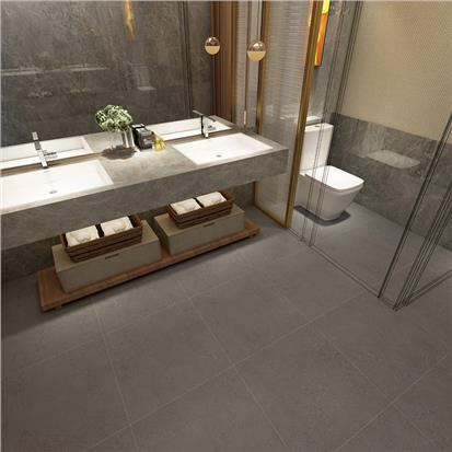 Grey Polished Ceramic Floor Tile 600 x 600mm HBF022