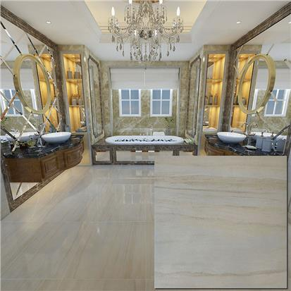 Beige Polished Porcelain Floor Tile 600 x 600mm HCM6002