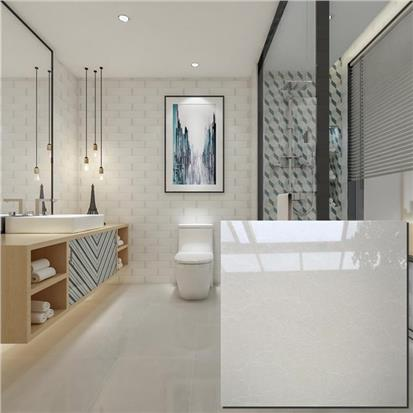 White Polished Ceramic Floor Tile 600 x 600mm HD8411P