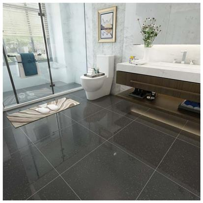 Black Polished Ceramic Floor Tile 600 x 600mm HLJ605N