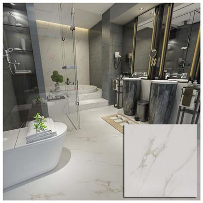 White Polished Porcelain Floor Tile 600 x 600mm HM6902M