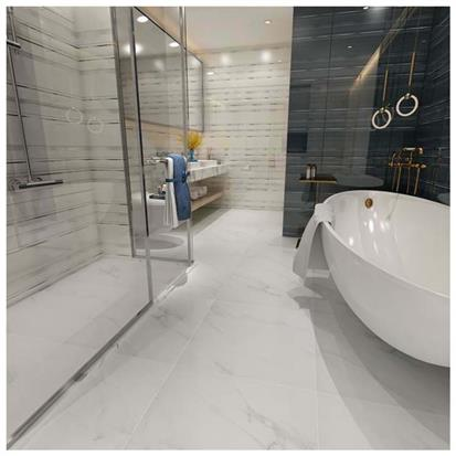 White Polished Porcelain Floor Tile 600 x 600mm HM6903M