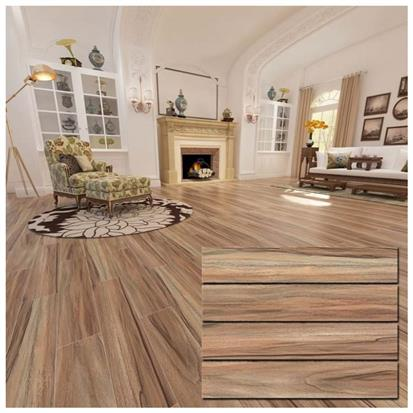 Brown Glazed Ceramic Floor Tile 150 x 800mm HMF815217