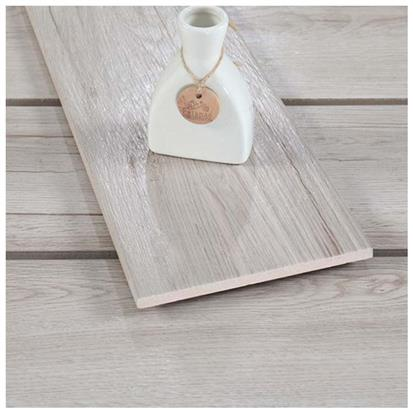 Light Grey Glazed Ceramic Wood Tile 150 x 800mm HMF815756