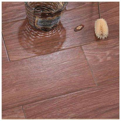 Brown Glazed Ceramic Wood Tile 150 x 600mm HMF915603