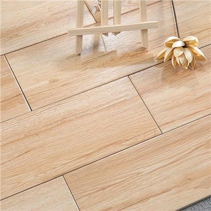 Beige Glazed Ceramic Wood Tile 150 x 900mm HMF915605
