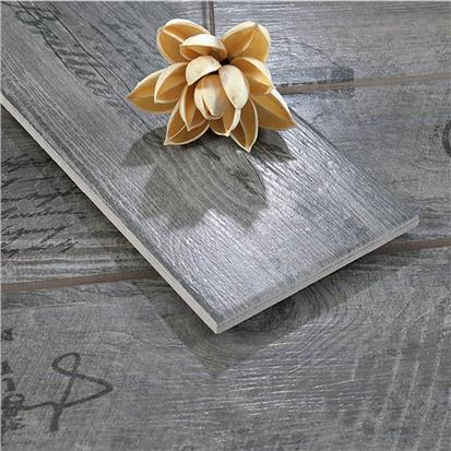Dark Grey Glazed Ceramic Wood Tile 150 x 900mm HMF915622H