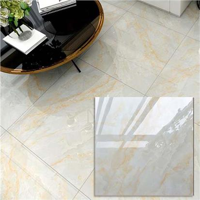 White Polished Ceramic Floor Tile 600 x 600mm HS603GN