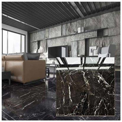 Black Polished Ceramic Floor Tile 600 x 600mm HS610GN